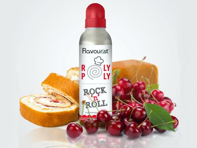 9607 - FLAVOURIST ROLY POLY ROCK N ROLL 30/70ml (παντεσπάνι με κρέμα και κεράσια)