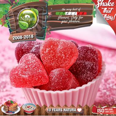 NATURA SHAKE AND TASTE CANDY BERRIES MIX 60/100ml (γλυκά βατόμουρα)
