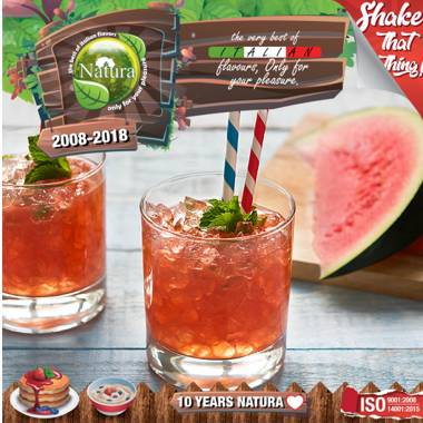 9643 - NATURA SHAKE AND TASTE FIZZY WATERMELON 60/100ml (καρπούζι με ανθρακικό)