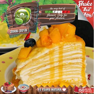 9652 - NATURA SHAKE AND TASTE MANGO CREPE 60/100ml (τούρτα με μάνγκο)