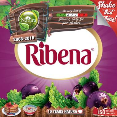 NATURA SHAKE AND TASTE RIBENA JUICE 60/100ml (χυμός από φραγκοστάφυλο)