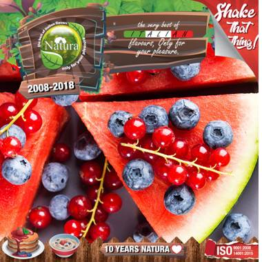 NATURA SHAKE AND TASTE WATERMELON BERRIEZ 60/100ml (καρπούζι και βατόμουρα)