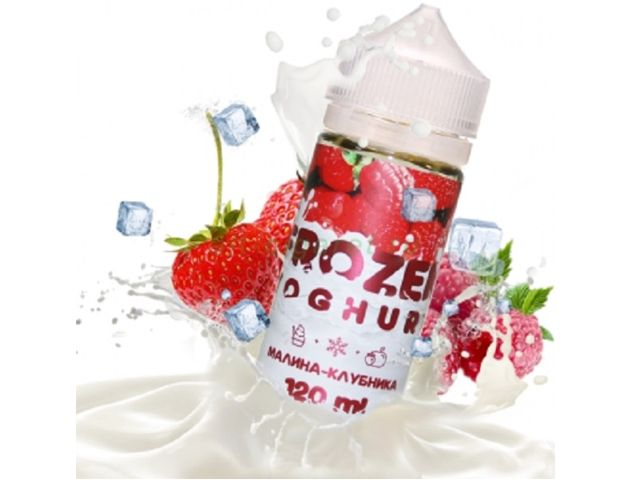 9689 - FROZEN YOGHURT Mix Shake Vape RASPBERRY AND STRAWBERRY 100/120ML (βατόμουρο και φράουλα)