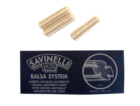 Savinelli 9mm Balsa 734 Pipe Filters