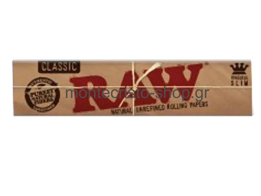 656 - RAW King Size SLIM Classic ακατέργαστο 32 φύλλα