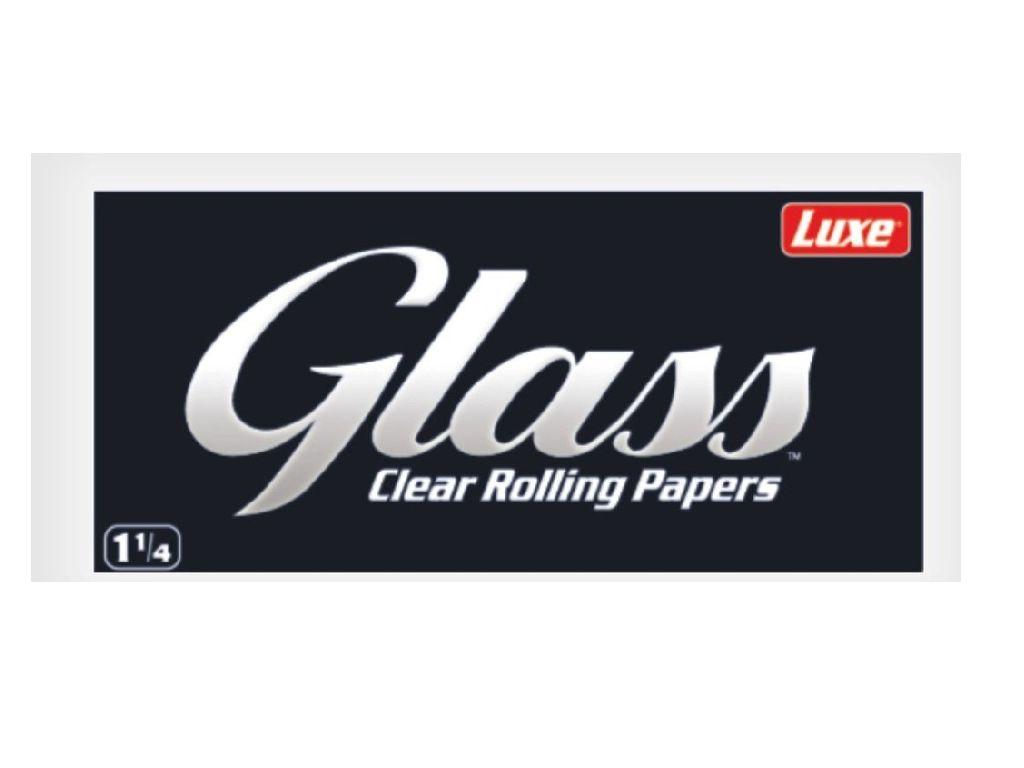 707 - Χαρτάκια 1 και 1/4 Glass Clear (Διάφανο) made from cellulose