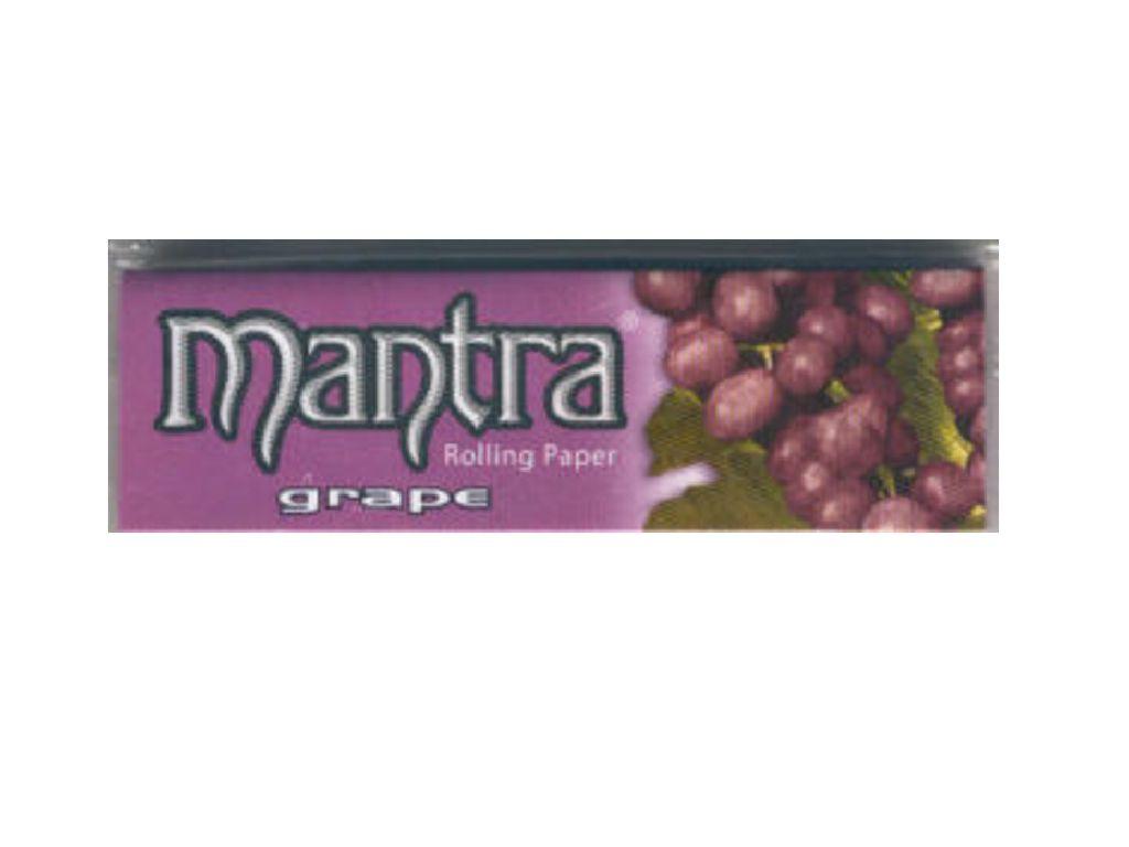 714 - Χαρτάκια 1 και 1/4 MANTRA σταφύλι, made in spain, 50τεμ