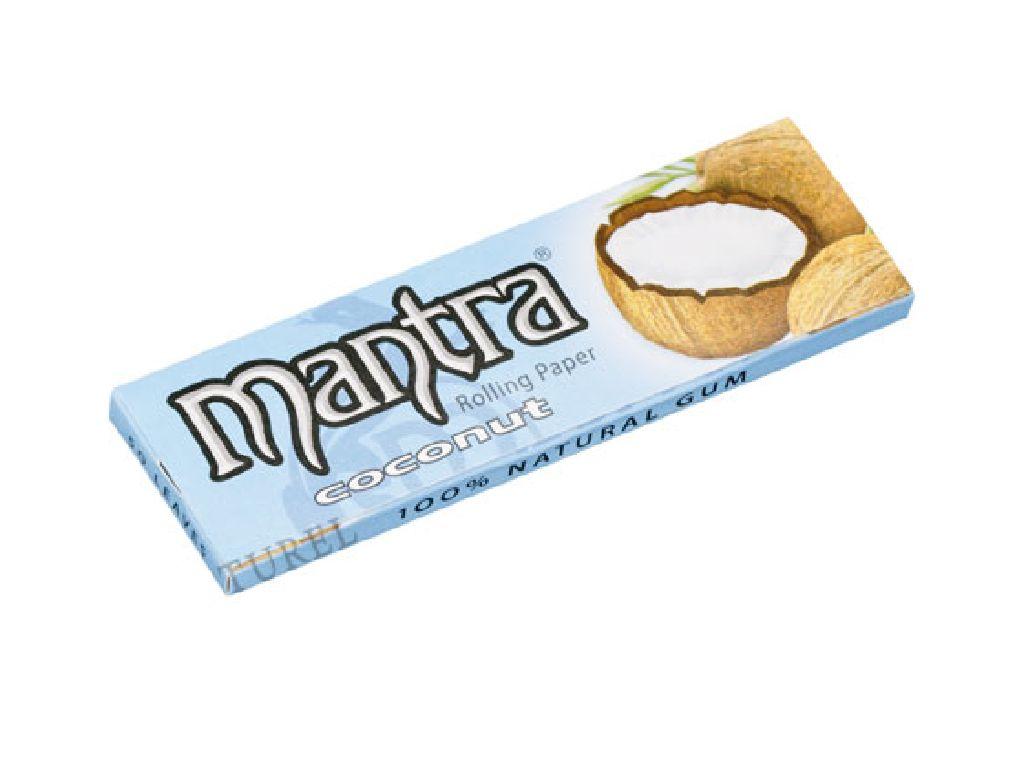 Χαρτάκια 1 και 1/4 MANTRA COCONUT (καρύδα) made in Spain, 50τεμ