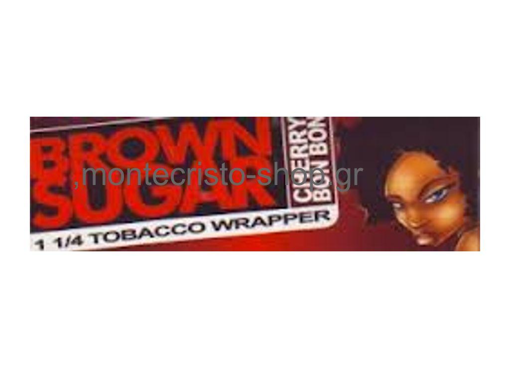 Χαρτάκια πουρόφυλλα 1 και 1/4 Brown Sugar CHERRY (κεράσι)