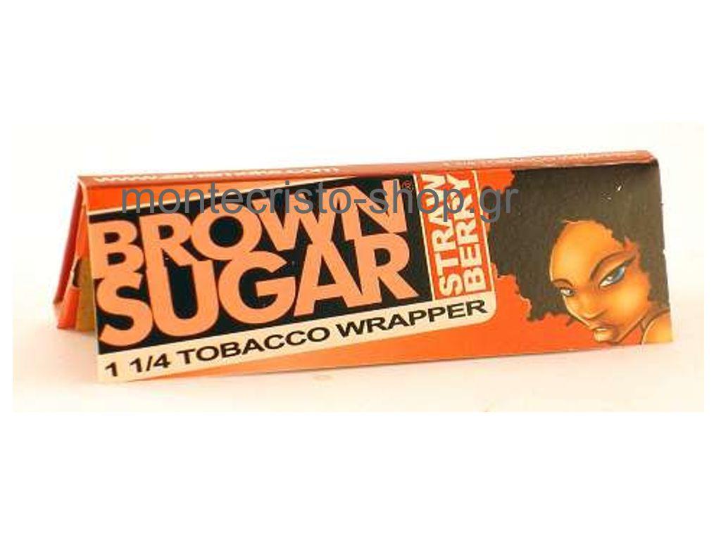 730 - Χαρτάκια πουρόφυλλα 1 και 1/4 Brown Sugar STRAWBERRY (ΦΡΑΟΥΛΑ)