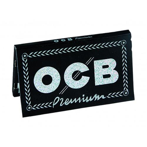 646 - Χαρτάκια στριφτού OCB Premium Double Black Μαύρα 100 φύλλα