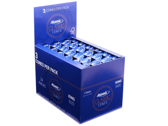 9733 - Κώνοι Atomic Classic Cones KS Ultra Thin 110mm (συσκευασία με 24 πακετάκια των 3)