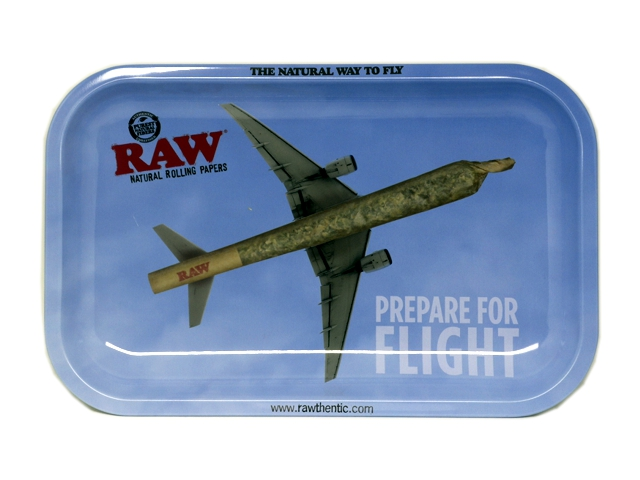 9743 - Δίσκος στριφτού RAW PREPARE FOR FLIGHT METAL ROLLING TRAY SMALL 13793