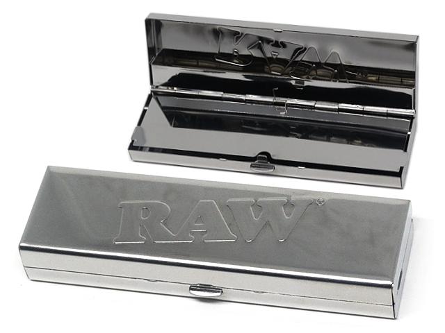 Μεταλλική θήκη καπνού RAW για KS SLIM χαρτάκια & προτυλιγμένες τζιβάνες 13682