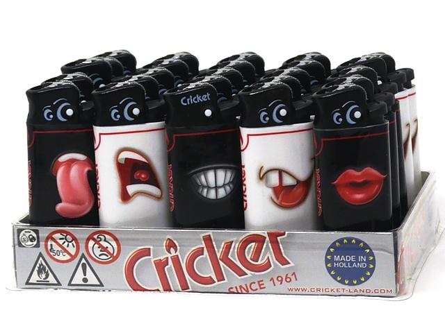 9824 - Αναπτήρες Cricket MINI Funny Faces 22125238 (κουτί των 25)