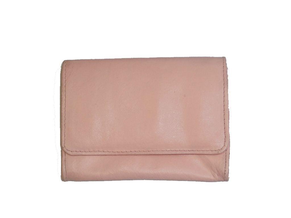 Καπνοσακούλα από γνήσιο δέρμα ροζ μικρή