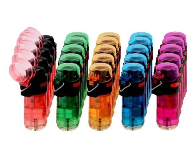 Αναπτήρας φλόγιστρο κουτί 25 τεμ ATOMIC CR Jet Lighter βαρελάκι χρώμα