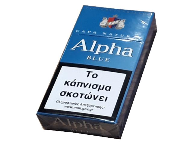 9849 - CIGARILLOS ALPHA BLUE ΜΠΛΕ CAPA NATURAL 12 ΠΟΥΡΑΚΙΑ