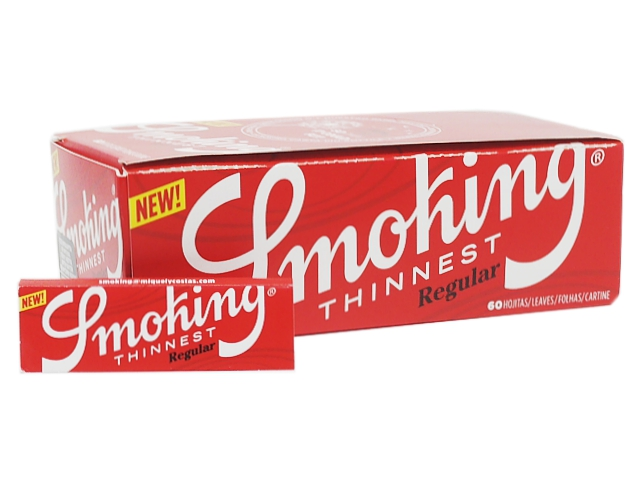 9873 - Χαρτάκια Smoking Thinnest Regular 60 (10γρ/μ2) κουτί των 50