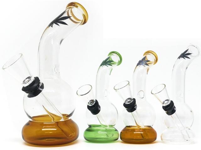 Γυάλινο Μπονγκ 02909 LEAF GLASS BONG 12cm ΝΕΡΟΠΙΠΑ