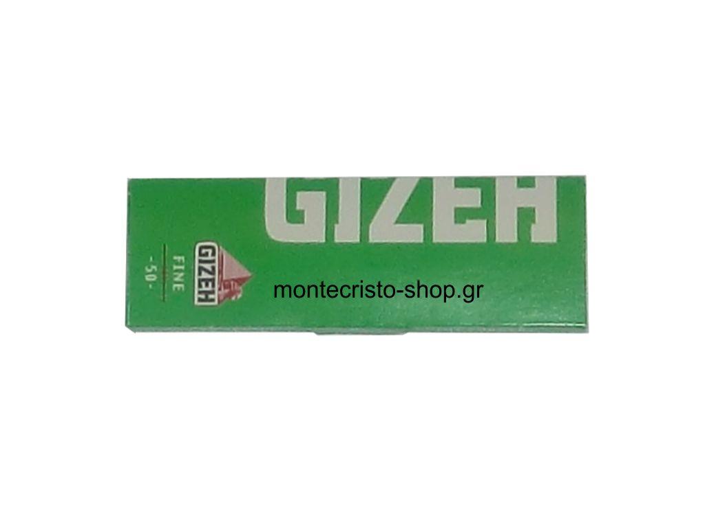 666 - Χαρτάκια στριφτού GIZEH Fine Cut Corners πράσινα 50 φύλλα GIP045