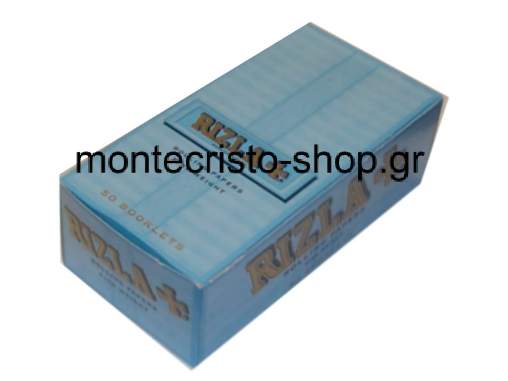 Κουτί 50 τεμαχίων RIZLA ciel γαλάζιο 50 φύλλα τιμή 0.23 το τσιγαρόχαρτο