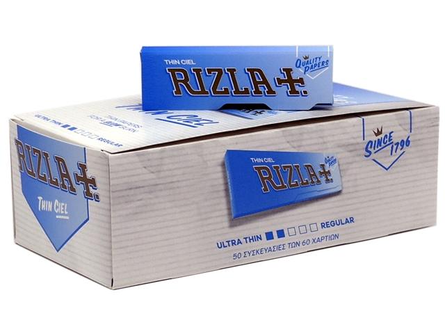 599 - Χαρτάκια RIZLA CIEL 60 φύλλων Σιελ κουτί 50 τεμαχίων