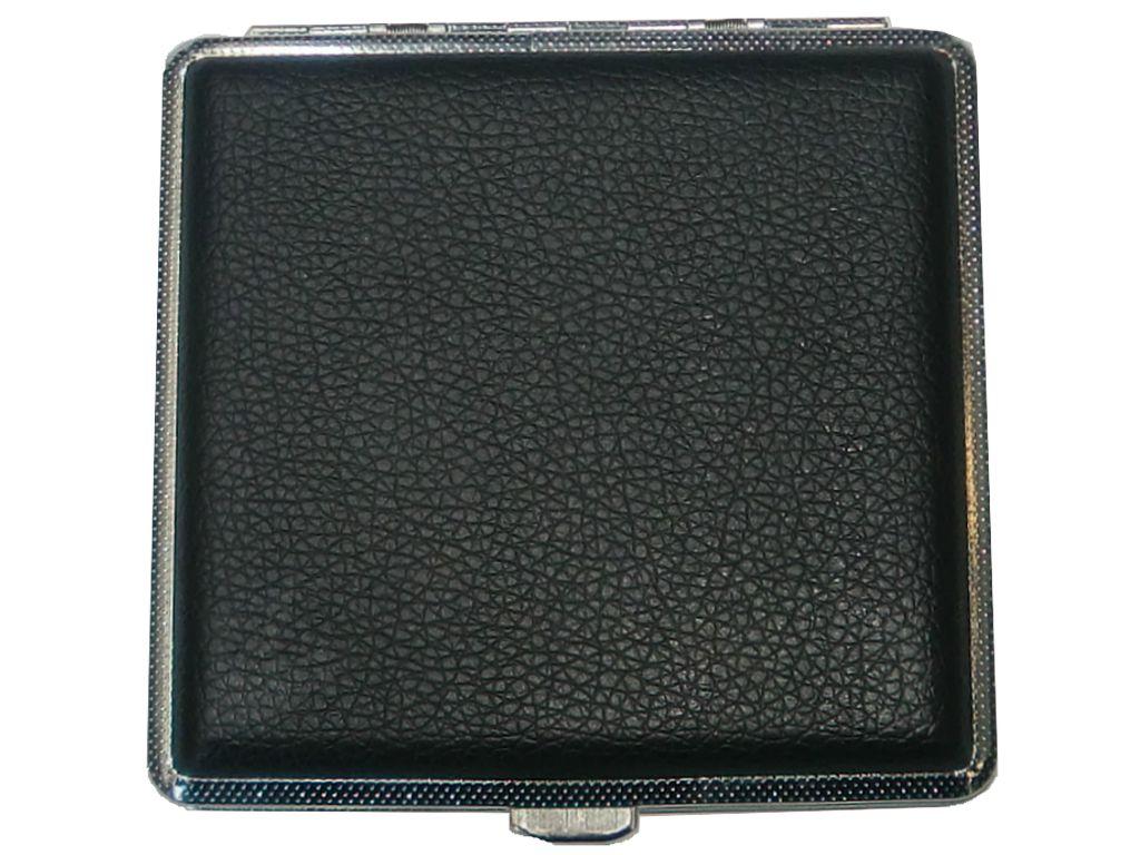 382 - Ταμπακιέρα για 18-20 τσιγάρα 300Β μεταλική, μαύρη ακρυλική επικάλυψη