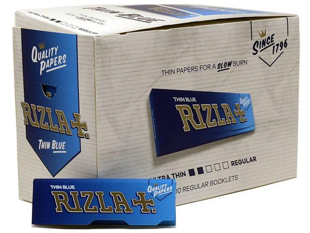Χαρτάκια RIZLA μπλε 50 κουτί των 100 τεμαχίων
