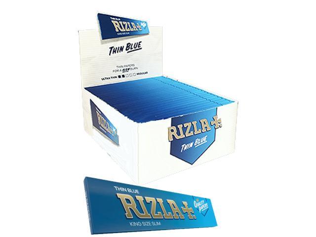 Χαρτάκια στριφτού RIZLA THIN BLUE King Size 32 κουτί των 50 τεμαχίων