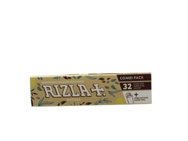 Χαρτάκια στριφτού RIZLA NATURA King Size 32 με τζιβάνες