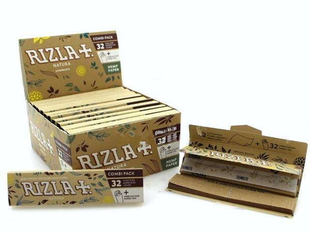 9974 - Χαρτάκια στριφτού RIZLA NATURA King Size 32 με τζιβάνες κουτί 24 τεμαχίων