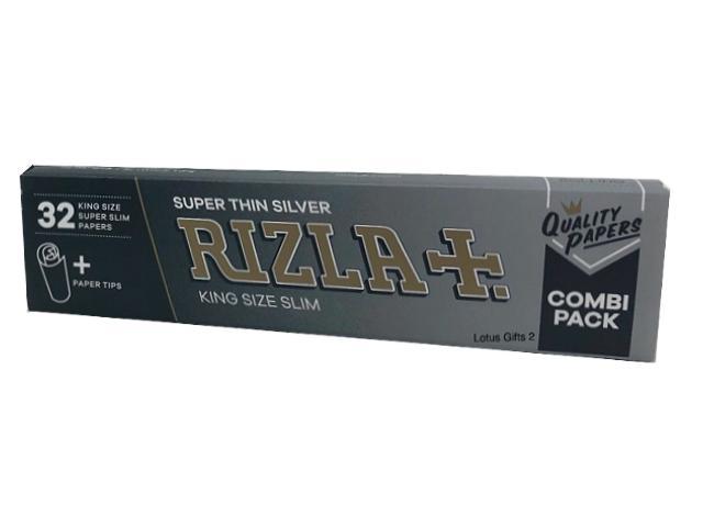 Χαρτάκια στριφτού RIZLA SILVER King Size 32 με τζιβάνες