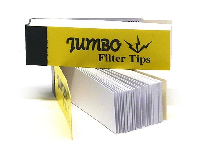 9990 - Τζιβάνες Jumbo fiter tips 50 Yellow Mellow μακρυές