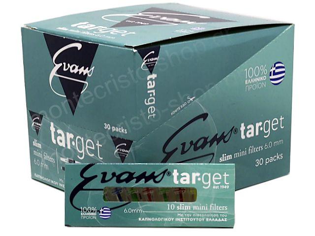 ΠΙΠΑΚΙΑ TARGET SLIM ΤΣΙΓΑΡΟΥ & ΣΤΡΙΦΤΟΥ 6mm EVANS κουτί 30 τεμαχίων ΠΙΠΑ ΤΣΙΓΑΡΟΥ
