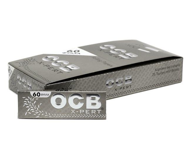 Χαρτάκια OCB SILVER X-PERT πολύ λεπτό 60 φύλλα (κουτί των 25)