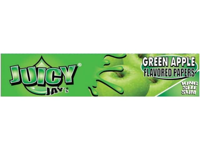 10052 - Χαρτάκια αρωματικά Juicy Jays GREEN APPLE ΠΡΑΣΙΝΟ ΜΗΛΟ KING SIZE