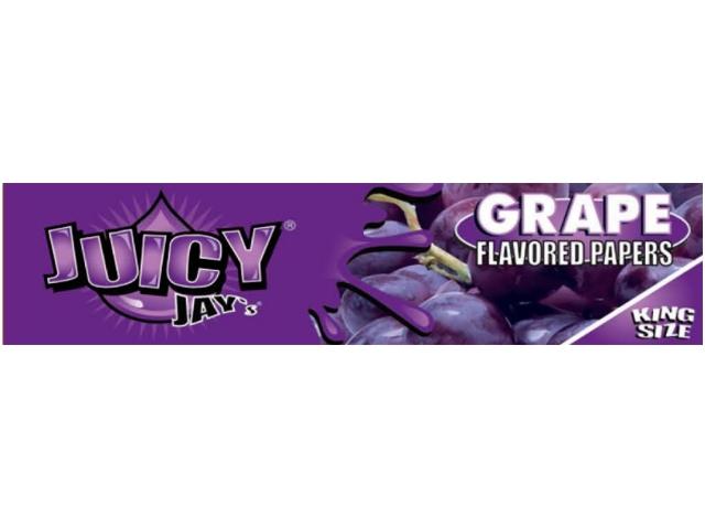 10055 - Χαρτάκια αρωματικά Juicy Jays GRAPE ΣΤΑΦΥΛΙ KING SIZE