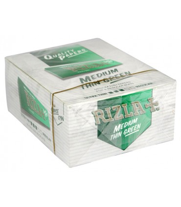 Χαρτάκια KING SIZE RIZLA GREEN Πράσινο κουτί των 50 τεμαχίων