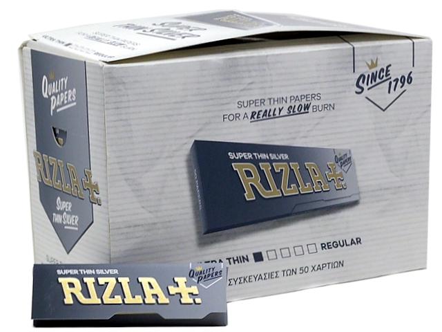 Χαρτάκια Rizla Silver Ασημί Super Thin 50 (κουτί των 100)