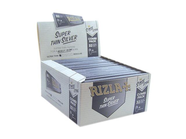 Χαρτάκια King Size Rizla Slim Ασημί κουτί των 50 τεμαχίων