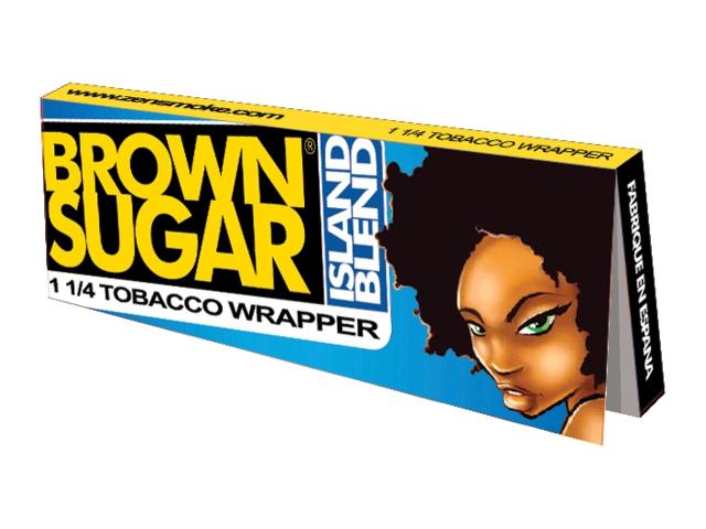 10074 - Πουρόφυλλα Brown Sugar island Blend 1 1/4 φύλλα 20