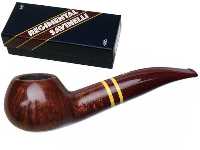 10122 - SAVINELLI REGIMENTAL 321 9mm SMOOTH BURGUNDY πίπα καπνού ημίκυρτη