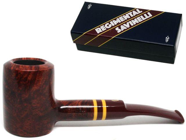 10123 - SAVINELLI REGIMENTAL 310 9mm SMOOTH BURGUNDY KS πίπα καπνού ημίκυρτη