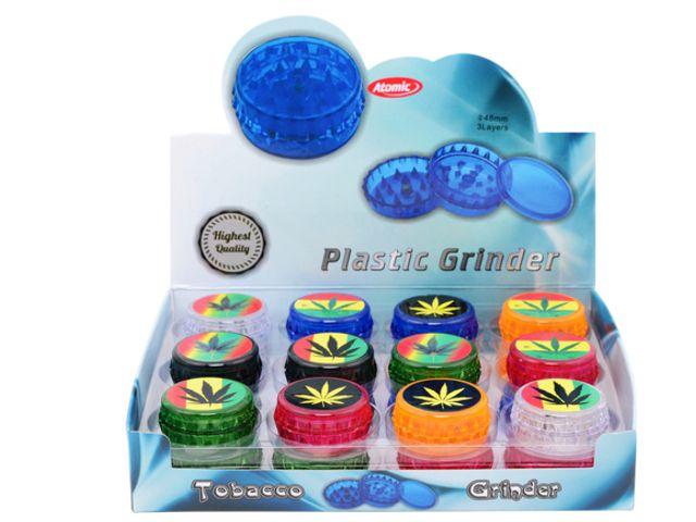 10131 - Τρίφτης καπνού Atomic Plastic Grinder 48mm Maria 3 parts 0212466 (κουτί των 24)