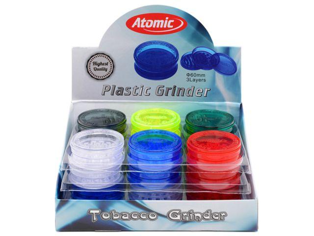 10133 - Τρίφτης καπνού Plastic Grinder 3Parts 60mm 0212495 Κουτί των 24