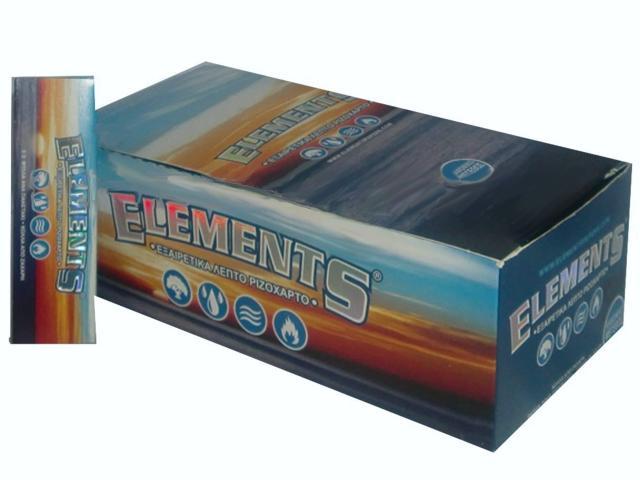 633 - Χαρτάκια ELEMENTS κανονικά ριζόχαρτο κουτί 50 τεμ, 50 φύλλα