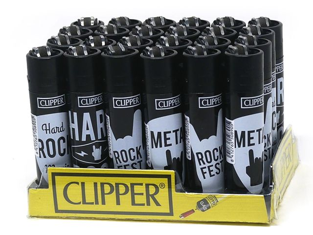 10169 - Clipper CP11RH ROCK FEST 104352057 Large (κουτί με 24 αναπτήρες)