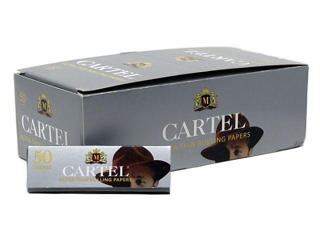 Χαρτάκια στριφτού CARTEL ΑΣΗΜΙ ULTRA Thin πολύ λεπτό (κουτί των 50)