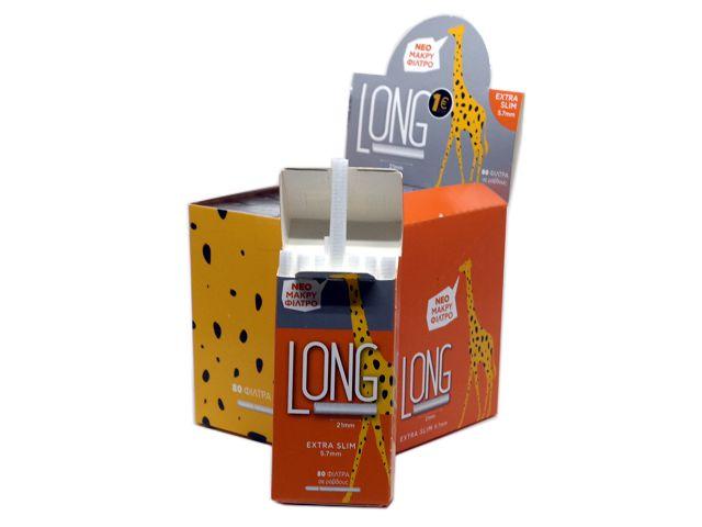 10310 - Φιλτράκια Long 5.7mm Extra Slim 80 Uniflame (μακρύ μήκος 21mm) κουτί των 10